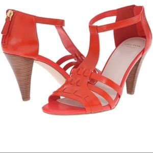 Womens Sandals Cole Haan Cady High Sandal Fiery Red