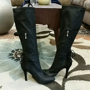 Shoes - BCBG black heel boots