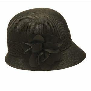 f6aabe0796caa0 Angela & William Accessories | Womens Gatsby Linen Cloche Hat Black ...