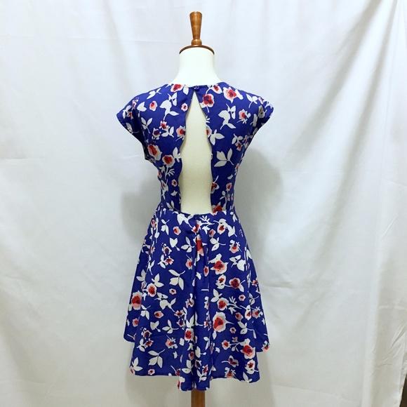 Modcloth Dresses - Floral Cutout Dress