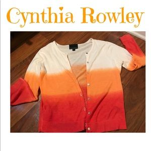 ♥️Orange sorbet ombre cardigan