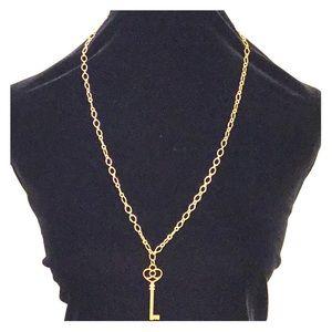 Deja Vu Designs Jewelry - Unlock your Destiny Rose Gold Vintage Key Necklace