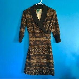 EUC Ralph Lauren tribal print dress
