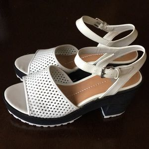 Dolce Vita Bone Leather Platform Sandal sz 10 NIB