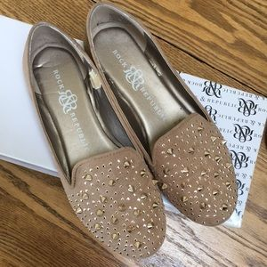 Tan Studded Rock & Republic Loafers