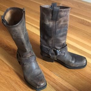 Mossimo Supply & Co. Brown Leather Cowboy Boots