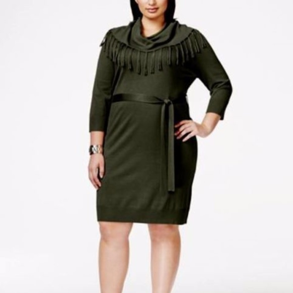 dc1b7ed3694 NY Collection Cowl neck Sweater Dress Plus Size