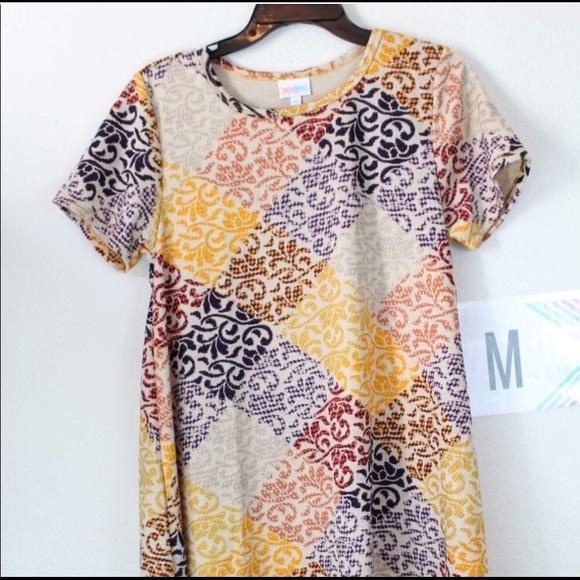 ce250c0e07cd LuLaRoe Dresses & Skirts - Lularoe carly Jacquard patchwork Med.