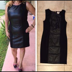 LEATHER BLACK DRESS!