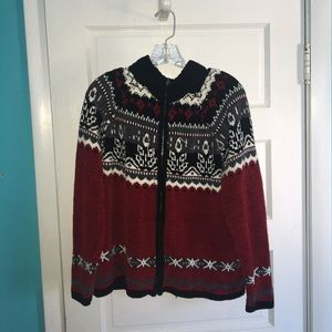 Jackets & Blazers - Designers studio originals zip up knit jacket