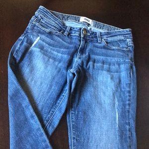 Paige denim skinny girlfriend jean size 26