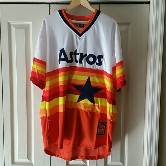 bd07af03 Majestic Shirts | Jose Altuve Houston Astros Throwback Jersey 2017 ...