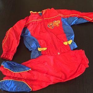 Vintage 90s sweatsuit girls 3T Elmo & Zoe SesameSt