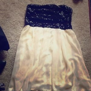 Charlotte Russe black and white sequin top dress