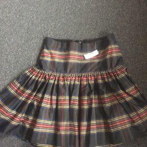J Crew Taffeta plaid Skirt