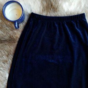 New Moves | Vintage Blue Velvet Maxi Skirt