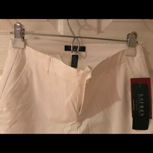 Ralph Lauren Cropped summer white ankle pants