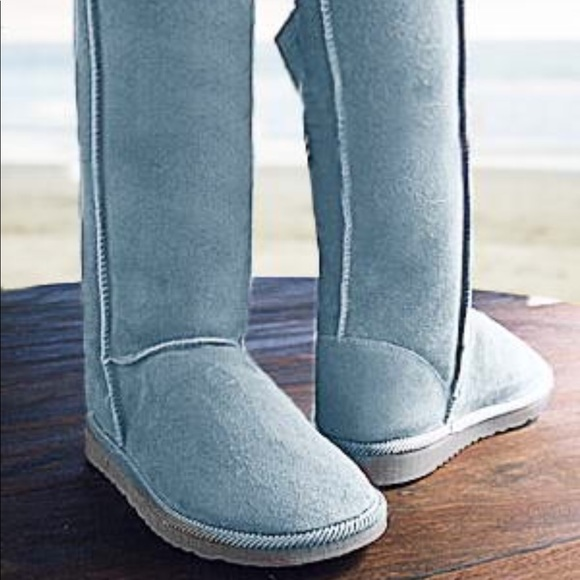 dfbd7660d84 Ugg light blue Tall lambskin two faced Boots size7