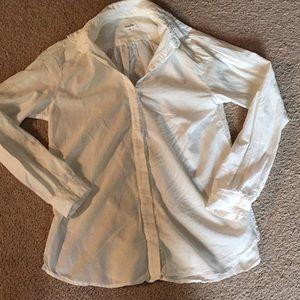 Steve Alan white button down blouse