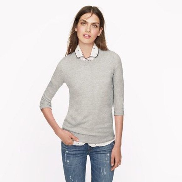 6daad88610f7 J. Crew Sweaters | J Crew Italian Cashmere Grey Tippi Sweater | Poshmark