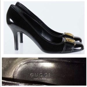 Authentic Gucci Black Patent Hysteria Heels
