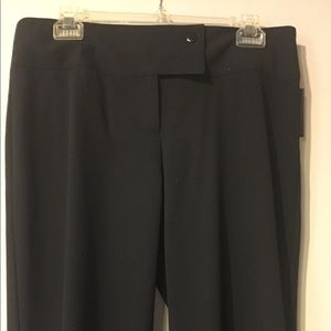 REDUCED LAUNDRY BY SHELLI SEGAL BLACK SZ 8TROUSERS