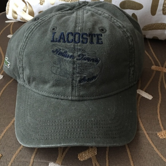 db8f4fd1e28 Lacoste faded Army green baseball hat