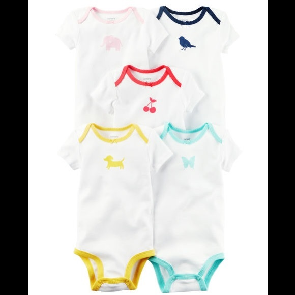 Carters Baby Girls 5-Pack Bodysuits
