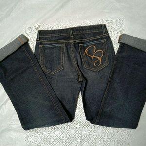 NEW Blu Jeanious Flare Jeans 25 NWT Mom