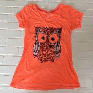 Neon orange graphic tee