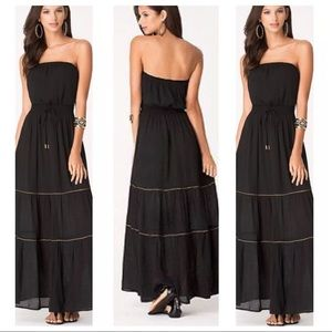 Bebe strapless maxi dress size S $159 like New!