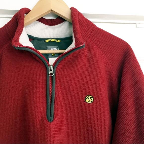 d389b2f37 North Face A5 Fleece 1/4 Zip Pullover Deep Red L
