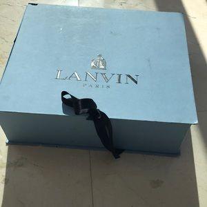 Lanvin escarpin peep toe authentic