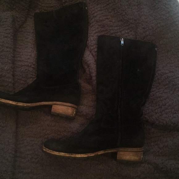UGG Shoes | Black Suede Boots | Poshmark
