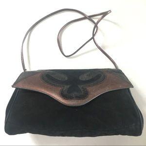 VINTAGE Leather and Snakeskin 80's Handbag Purse