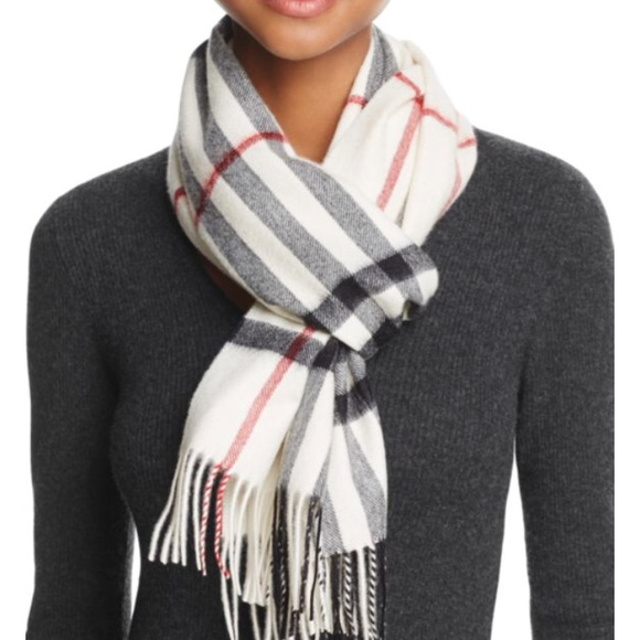 Burberry Accessories - Burberry giant check cashmere scarf in stone a3f2c57c16be6