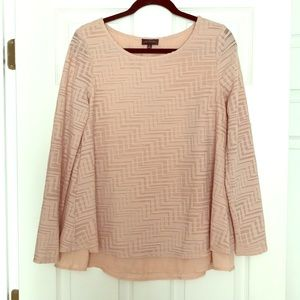 The Limited Blush Long-Sleeved Top