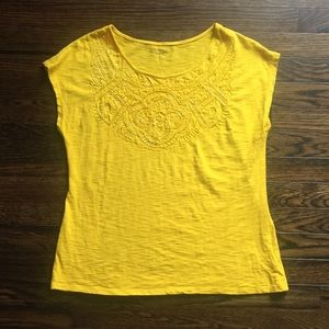 Coldwater Creek yellow beaded top