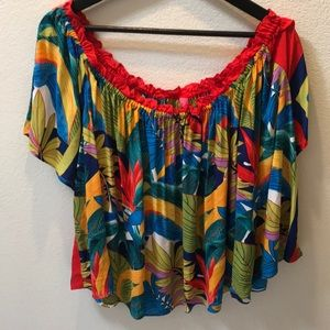 Plenty By Tracy Reese colorful cropped top