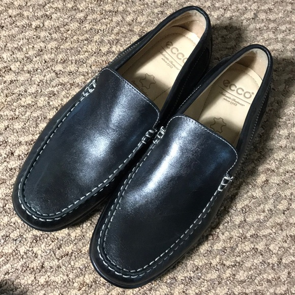 Mens Ecco Black Loafers Used 44 Size