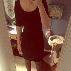Maggy London dress 2 black crepe pleated