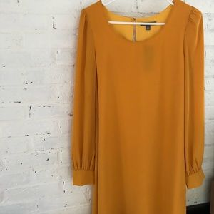 NWT tinley road gold yellow dress small