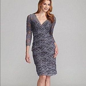 Gray lace dress never worn three quarter sleeve