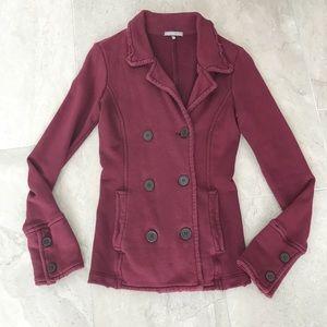James Perse Los Angeles distressed blazer jacket 1