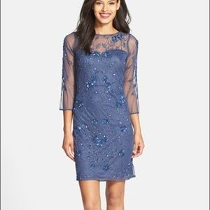 Blue mesh sequined dress never worn