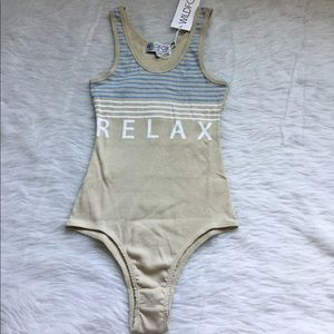 NWT Wildfox Relax Coco Bodysuit