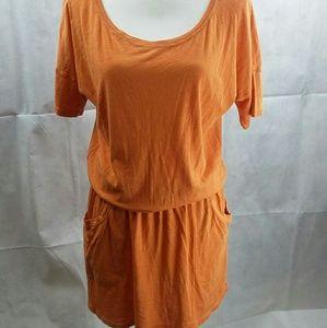 LAmade Dress Orange Pockets Med