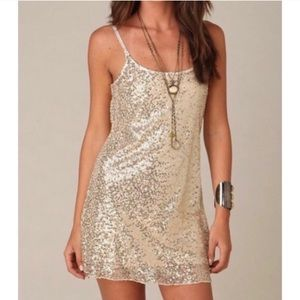 [Free People] Sequins Slip Dress