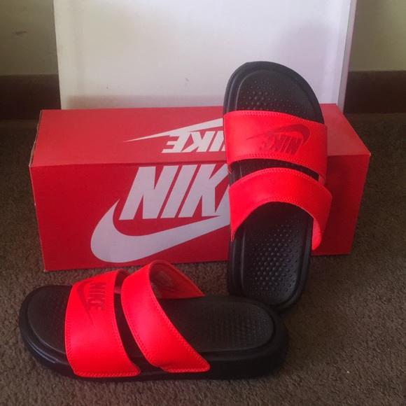 Nike double strap slides