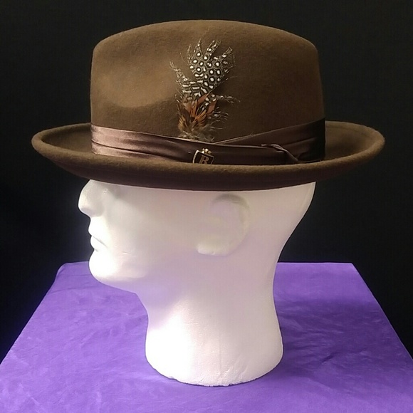 a6990230b17223 BRUNO CAPELO Accessories | Mens Brown Fedora Hat Australian Woo ...